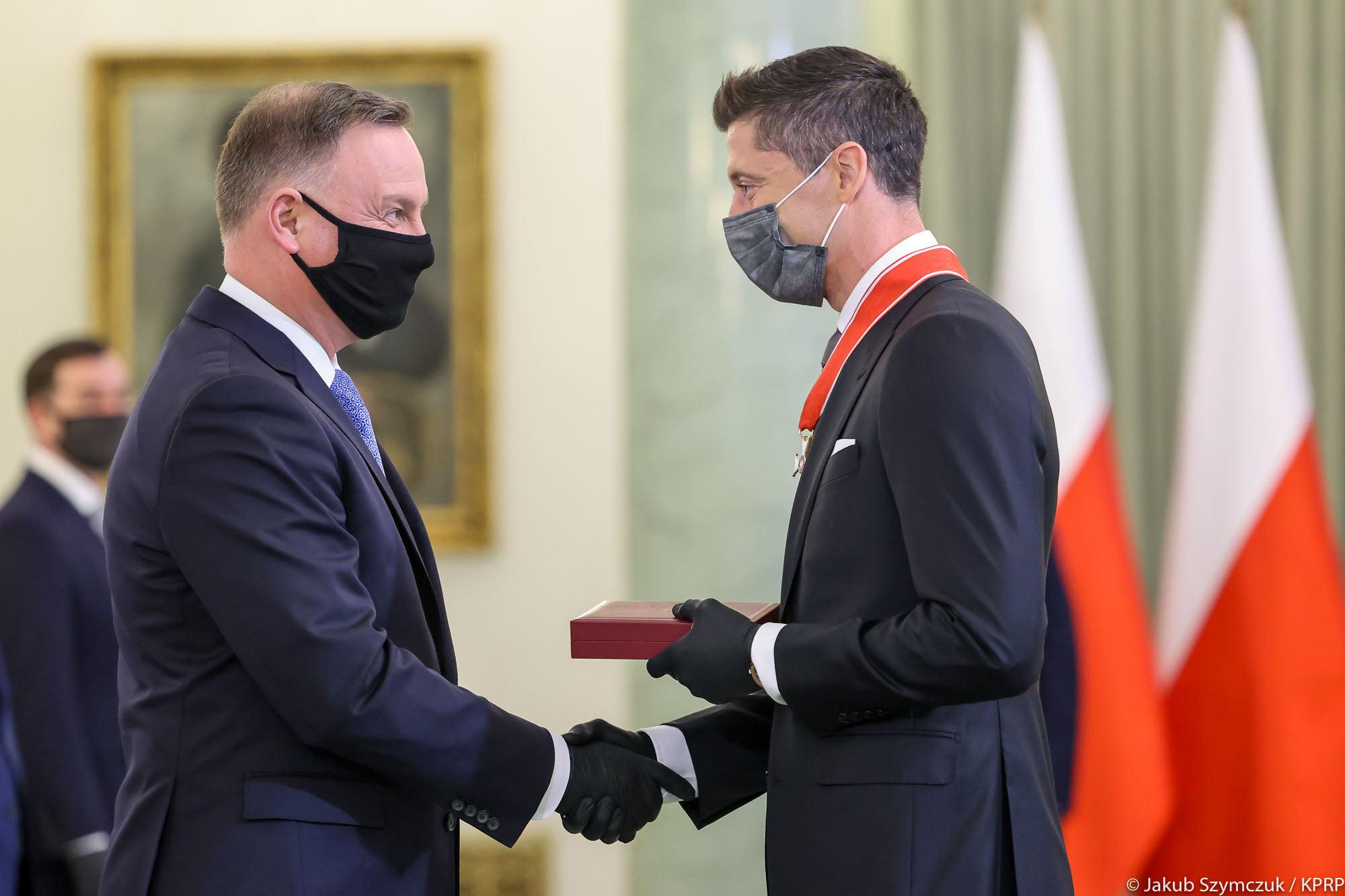 Robert Lewandowski otrzymał odznaczenie od Prezydenta Dudy