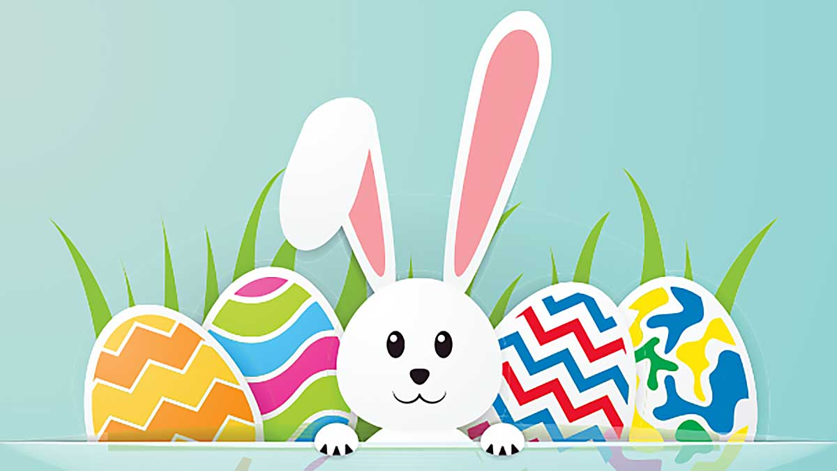 Easter Bunny Event at the Boro Park PSFCU Branch in New York