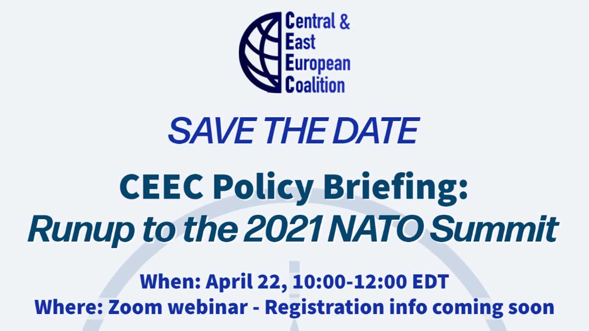 PAC: CEEC Policy Briefing: Runup to the 2021 NATO Summit on April 22