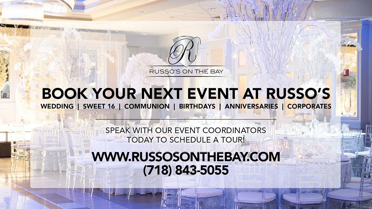 Odłożona impreza rodzinna, biznesowa w NY? Czas już na rezerwację sali w Russo's on the Bay