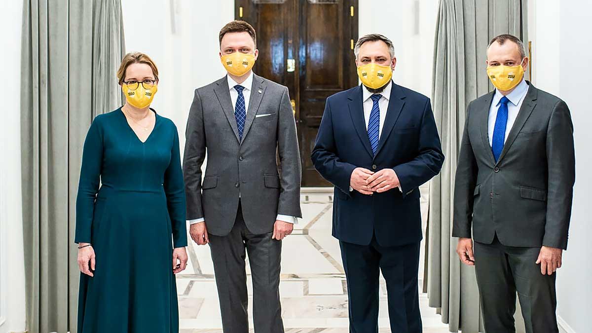 Nowi przedstawiciele Polski 2050 Szymona Hołowni: M. Suchoń, G. Nowosielski, W. Brociek