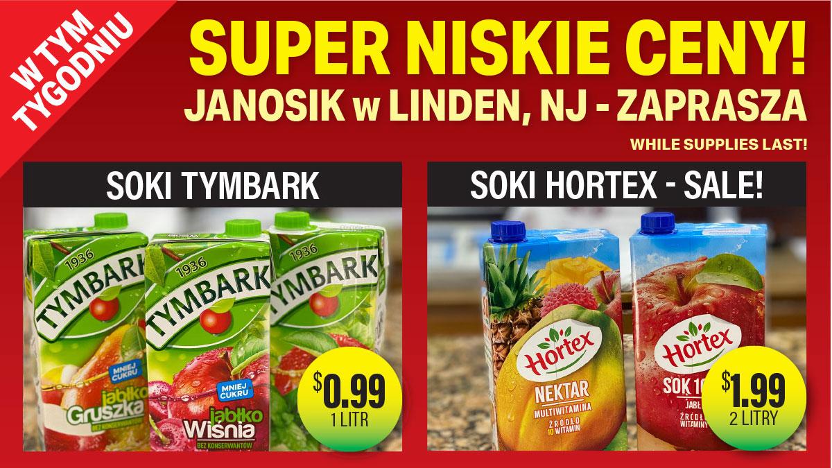 W tym tygodniu! Produkty za niskie ceny w sam raz na majówkę w Janosik Deli Linden, NJ