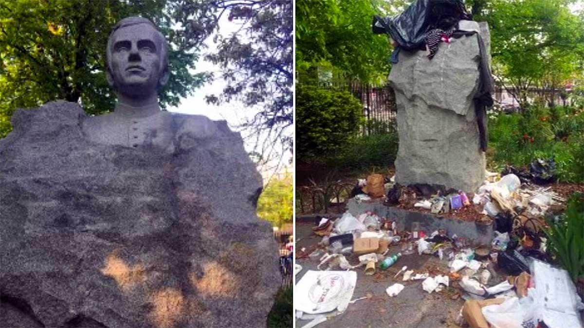 Śledztwo w sprawie wandalizmu pomnika Jerzego Popiełuszki w Nowym Jorku
