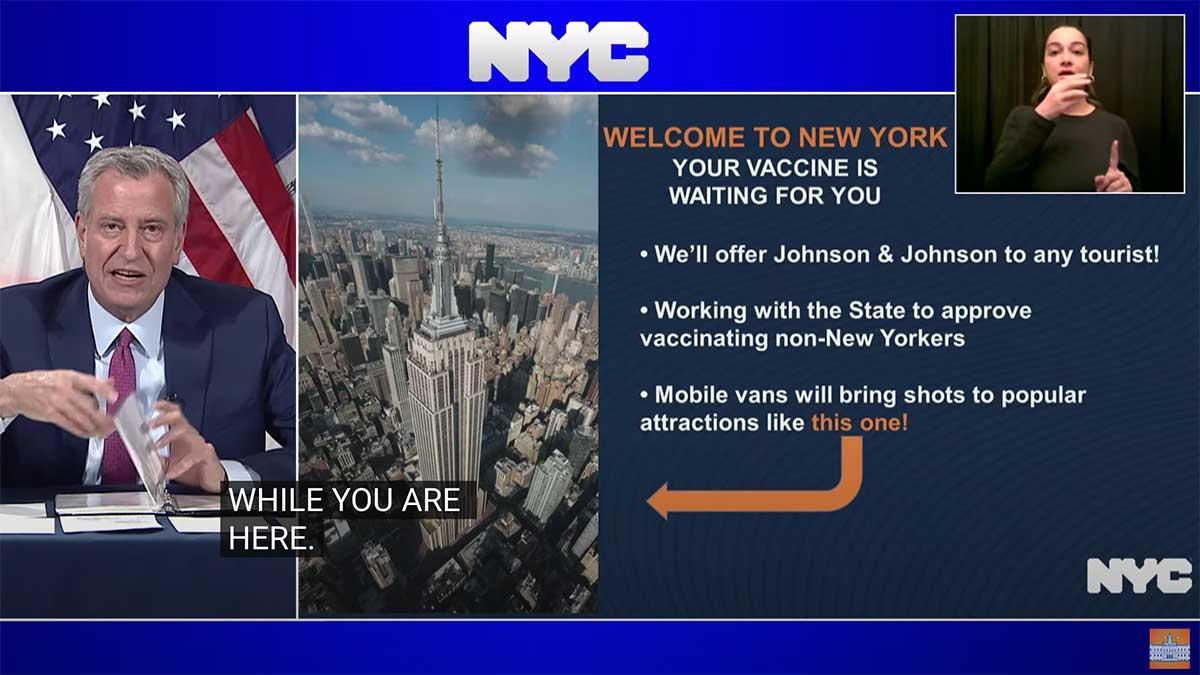 Dla turystów w Nowym Jorku bezpłatne szczepienia na Covid-19