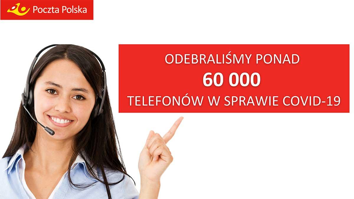 Poczta Polska wspiera walkę z pandemią. Pocztowcy odebrali już ponad 60 tys. połączeń i przekazali darowizny