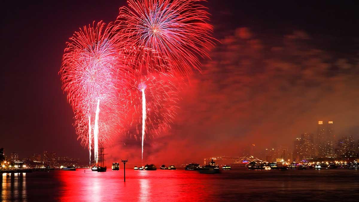 Macy's fajerwerki na 4 lipca powracają do Nowego Jorku