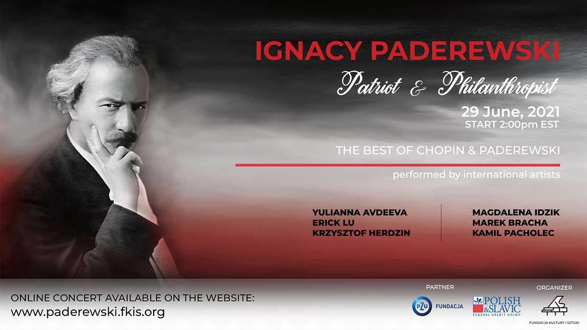 On-line Concert Premiere, June 29: Ignacy Paderewski The Patriot & Philanthropist
