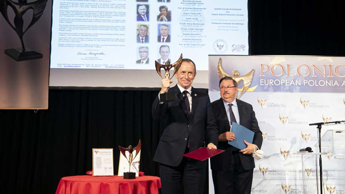 Marszałek Senatu RP prof. Tomasz Grodzki odebrał w Akwizgranie nagrodę Polonicusa dla Senatu RP