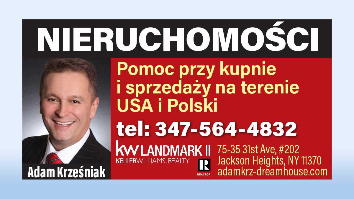 Kupno, sprzedaż, wynajem  nieruchomości w Nowym Jorku i w Polsce - Adam Krzesniak
