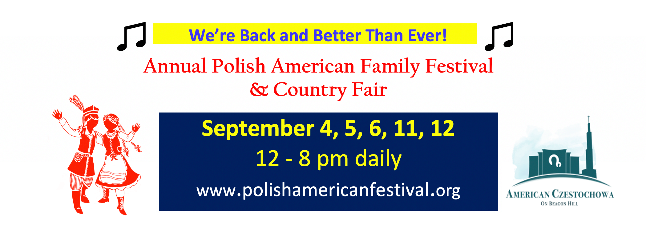 Polsko-Amerykański Festiwal 2021 odbędzie się w Amerykańskiej Częstochowie w PA
