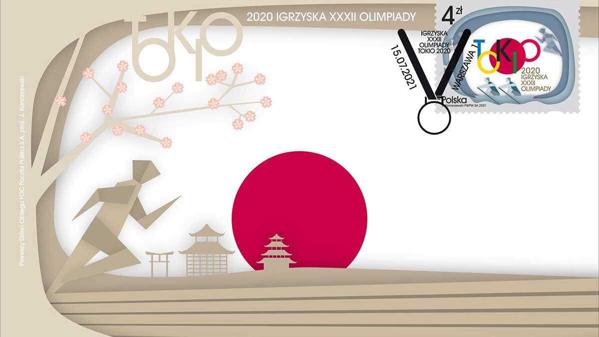 Olimpijski znaczek pocztowy, a my trzymamy kciuki za biało-czerwonych!