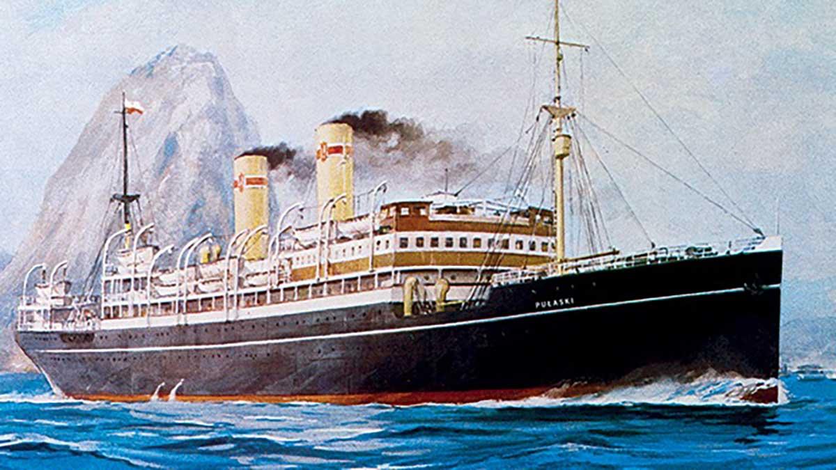 SS Polonia, SS Pułaski i SS Kościuszko - transatlantyki na znaczkach pocztowych