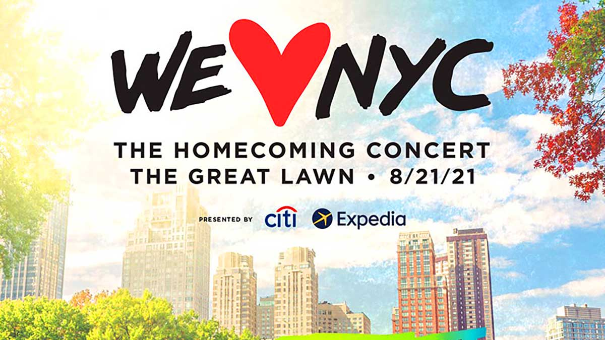 """W sobotę Wielki Koncert """"We Love NYC: The Homecoming Concert"""" w Central Park, w Nowym Jorku"""