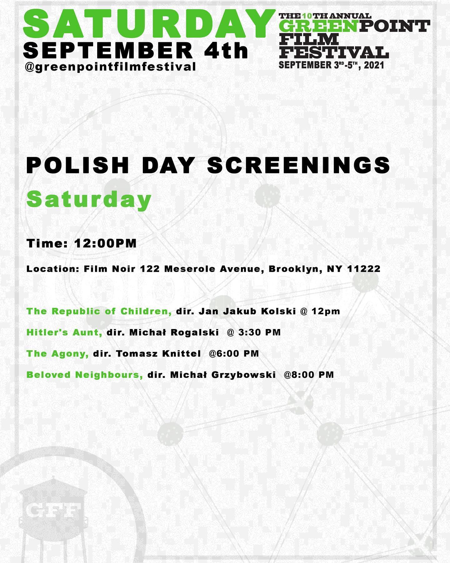The Greenpoint Film Festival 2021 - Special Polish Program