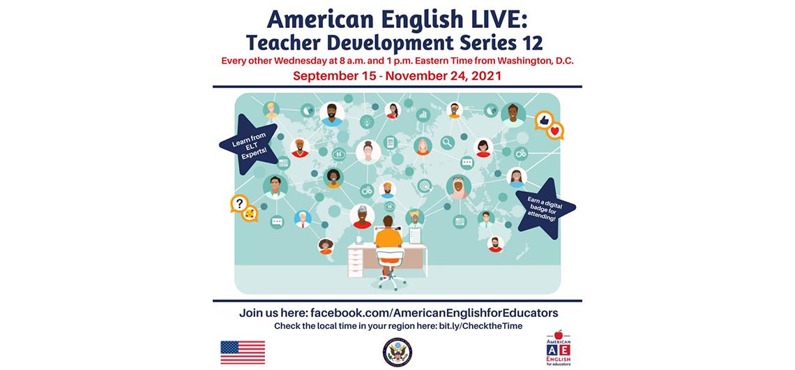 """Bezpłatne wykłady on-line """"American English Live: Teacher Development Series"""" dla nauczycieli języka angielskiego"""