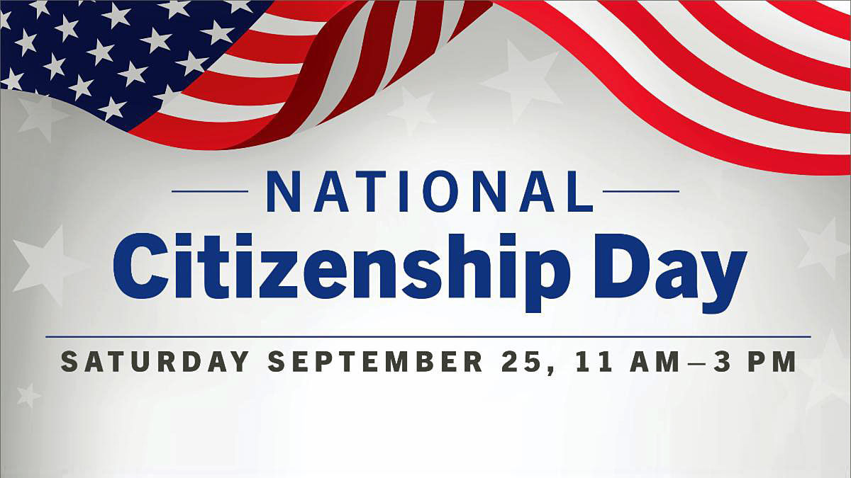 Celebrate National Citizenship Day. 25th of September