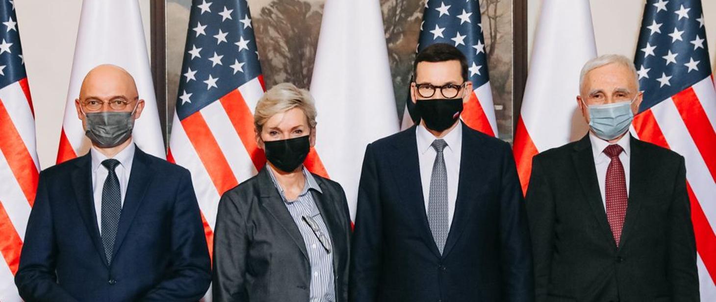 Spotkanie Mateusza Morawieckiego i Sekretarz ds. Energii USA Jennifer Granholm