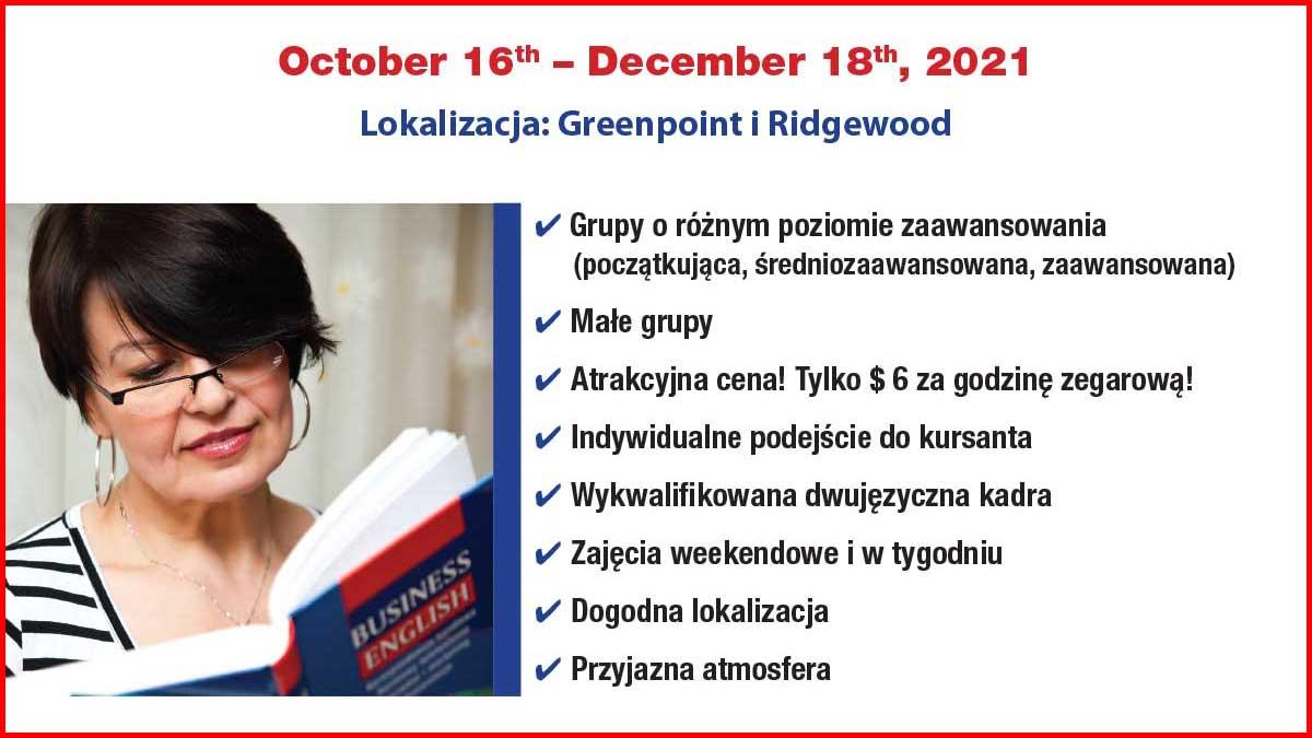 Nauka języka angielskiego w Nowym Jorku. Centrum Polsko Słowiańskie zaprasza na kurs